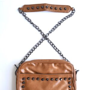 Rectangle Shape Cross Body Bag W/Silver Studs (Small)