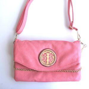 Cross Body Bag W/Gold Design