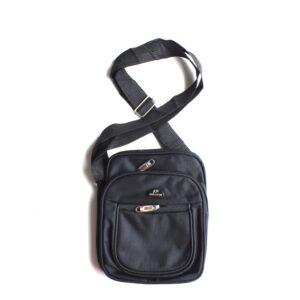 Cloth Messenger Bag W/5 Pockets & Adjustable Strap