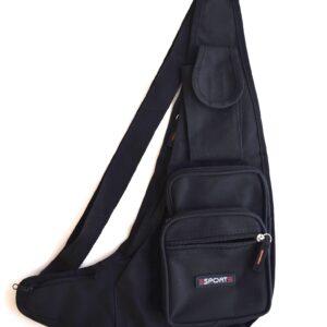 Cloth Cross Body Fanny W/5 Pockets & Adjustable Strap