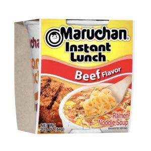 Beef cup of noodles
