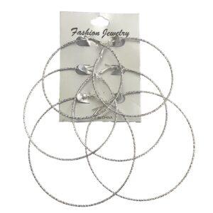 3 Sizes Thin Hoop Earring