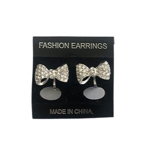 Bow Shape Earrings Clip On Small