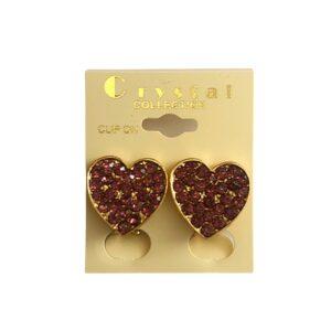 Heart Shape Trim Earring Clip On
