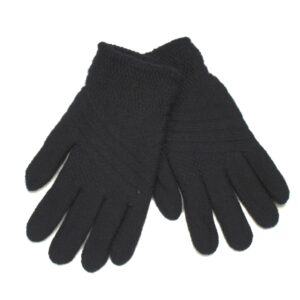 Knit double layer gloves