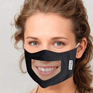 Face Mask W/Clear Mouth Shield
