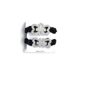 Hair Tie W/Trim Decoration (2 Pack)