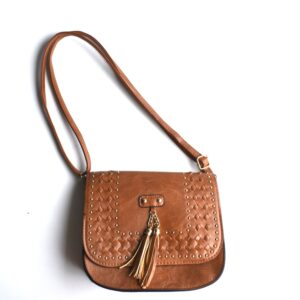Square Shape Cross Body With Small Gold Studs