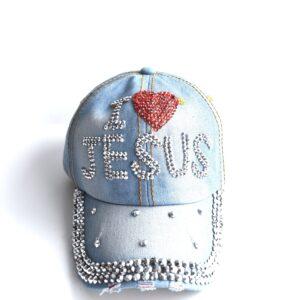 I Love Jesus Cap (Denim)